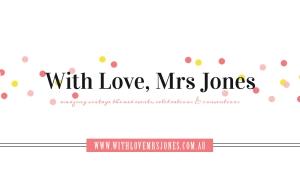 With Love Mrs Jones