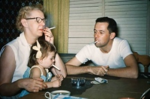 50's smoking family
