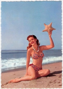 1950's bikini starfish girl
